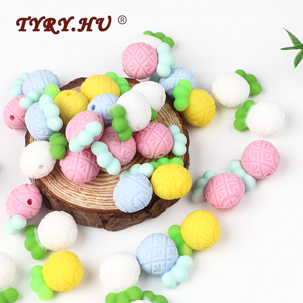 TYRY.HU 5pc Silicone Beads For Necklaces DIY Food Grade Silicone Rodent Toy Nurse Gift Baby Teething Beads Silicone Bpa Free