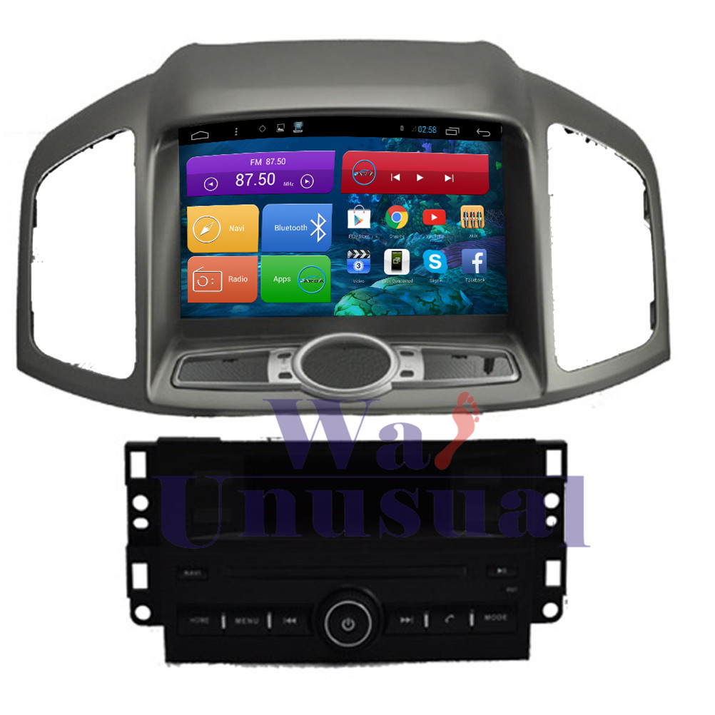 WANUSUAL 8 Inch Quad Core 16G Android 6.0 GPS Navigation for Chevrolet Captiva 2011 2012 Radio Player With BT Wifi 1024*600 Maps