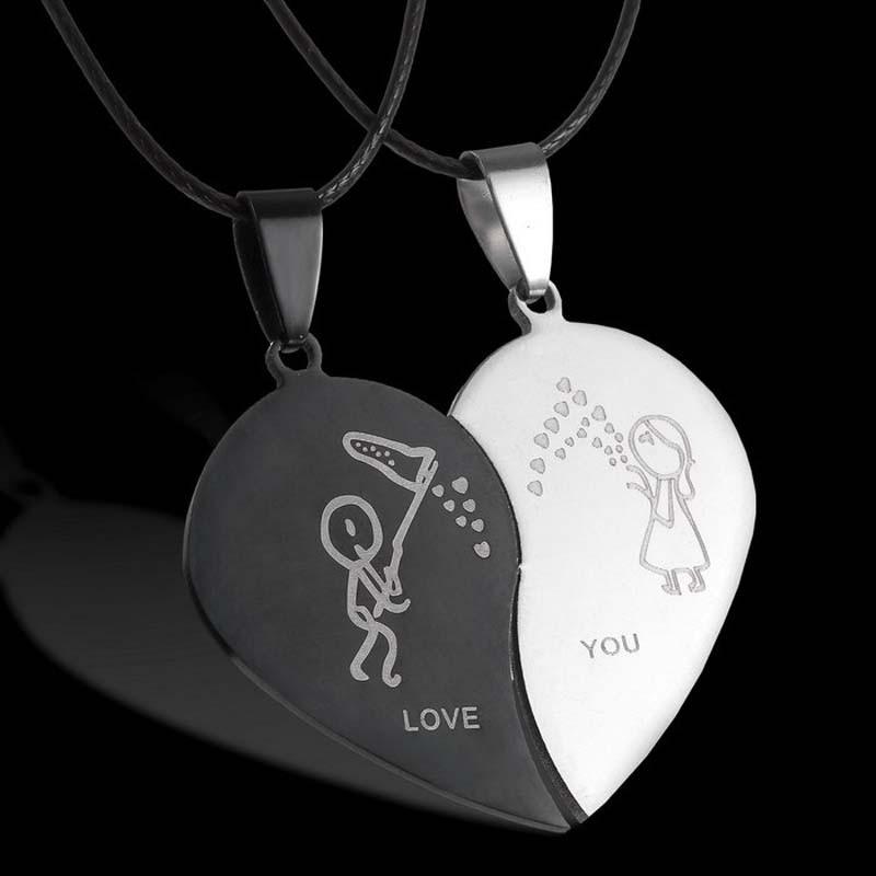 Мода розбите серце кулон коханець - Модні прикраси - фото 2