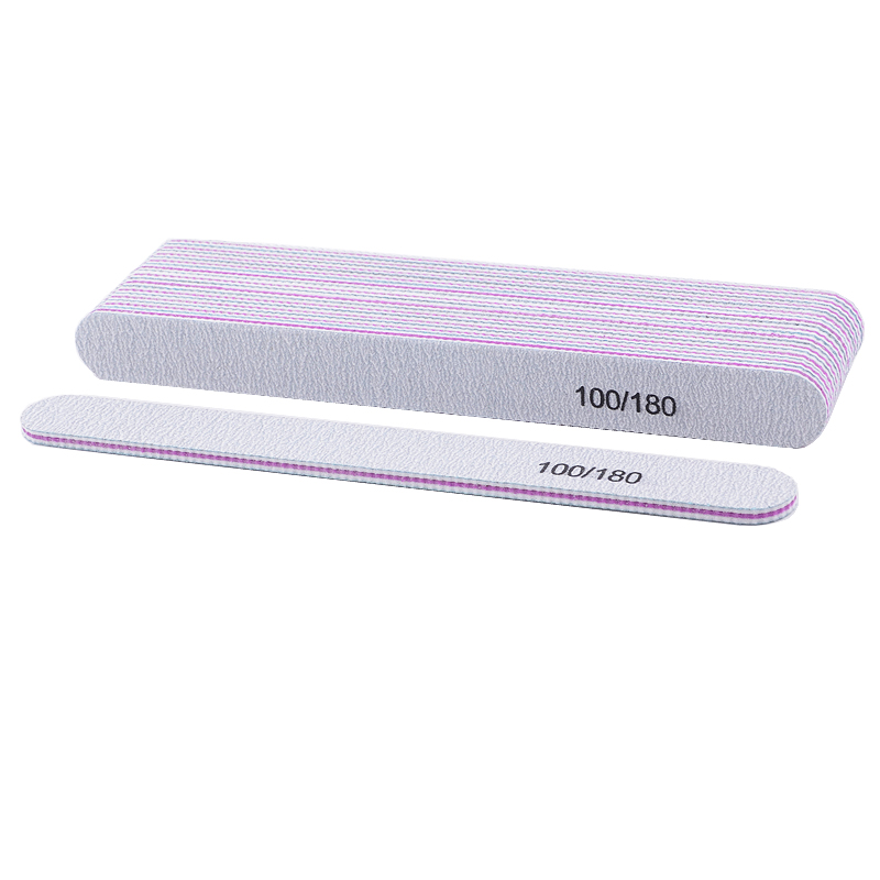 10pcs/lot Professional Nail File For UV Gel Sanding Polish Buffing Blocks 100/180 Nail Grinding Buffers Manicure Tools