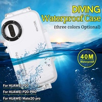 HAWEEL For HUAWEI P20 P20 PRO Mate20 pro 40m Underwater Diving Phone Protective Case Surfing Snorkeling Photo Video Taking Cover
