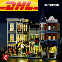 LEPIN 15019B STREETVIEW LIGHTENIING VERSION MOC Creative Series The Assembly Square Set Building Blocks Bricks Toys