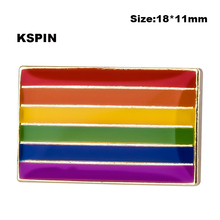 LGBT Pride Multi-Color Flag Pin Back Button Badge