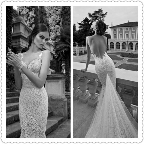 Celebrities Wedding Gowns: Sexy Galia Lahav Bridal Dresses 2014 2015 Sleeveless Lace