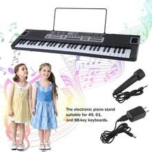 TSAI 61 Key Music Key Board Children Electronic Organ Teaching Learning Electronic Piano With Music Note Stand US Plug