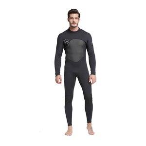 Image 4 - Męskie kombinezon na całe ciało, 3mm męskie neoprenowy długi rękaw kombinezon nurkowy idealny na pływanie/nurkowanie z akwalungiem/Snorkeling/Surfing Orange