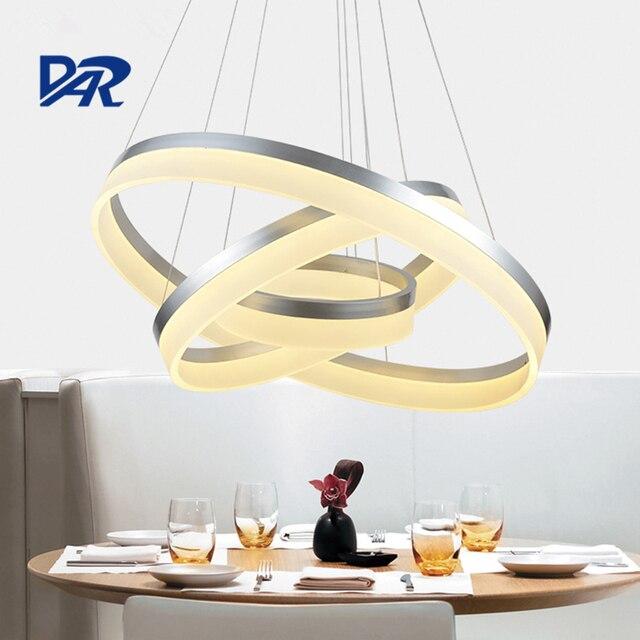 Moderne acrylique anneau plafonnier avec télé mande luminaria led