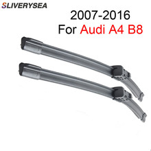 Pair Windscreen Wiper Blade For AUDI A4 B8 2007 2008 2009 2010 2011 2012 2013 2014 2015 2016 Natural Rubber Car Accessories