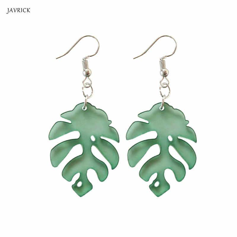 ac20b6ba0 2018 New Lovely Acrylic Green Leaf Shape Earring Dangle Drop Tortoise Shell  Charm Jewelry Women Christmas