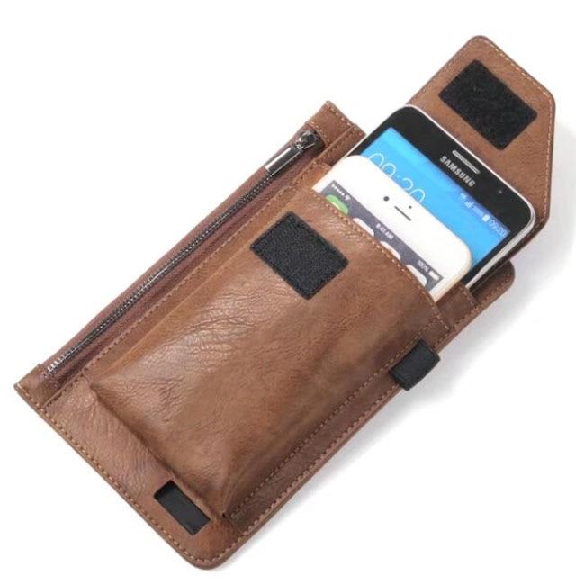 Hook Loop Man Clip de cinturón Cremallera Bolsa de tarjeta Funda de - Accesorios y repuestos para celulares - foto 6