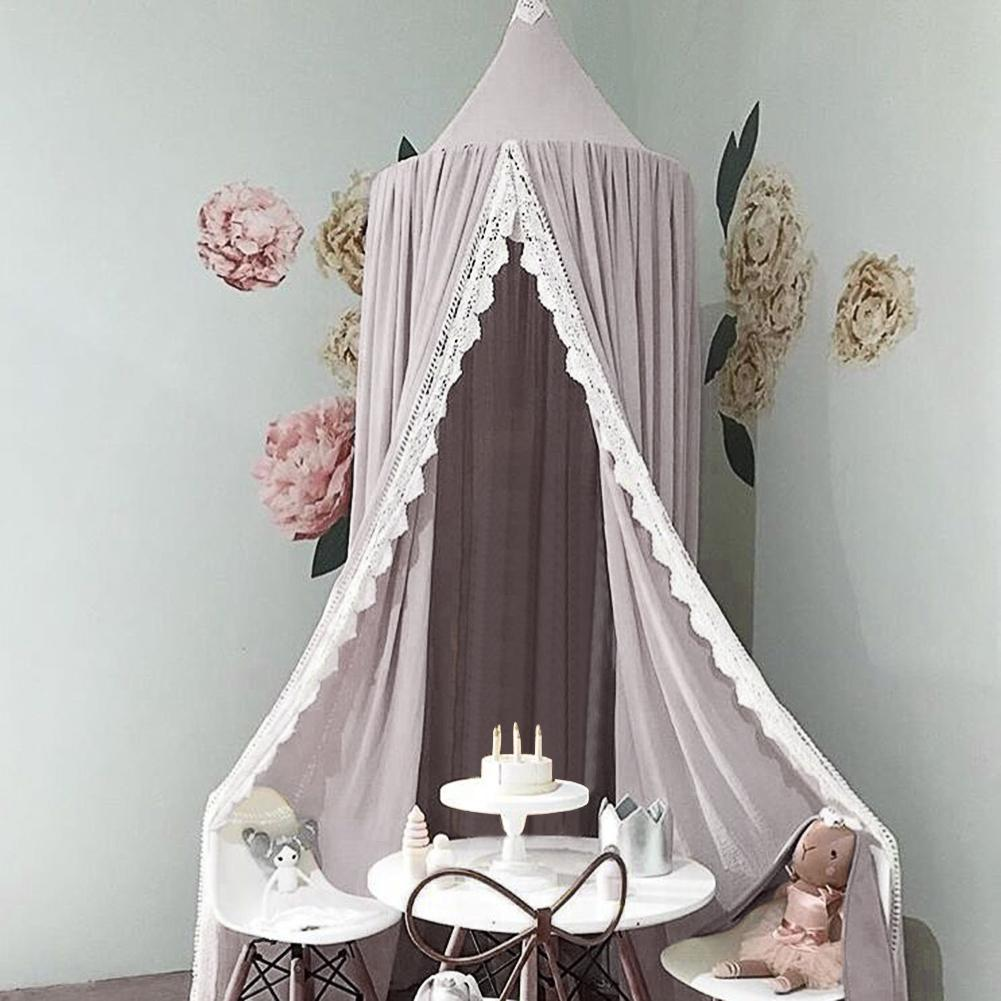 Kinderzimmer Sommer Chiffon Dome Bett Bettwäsche Zelt Moskito Net Tricolor  Diese Moskito Net Wir Verwendet 3 Stück Gespleißt Saum Umfang Zu Erreichen  3,75 ...