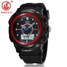 2016 OHSEN hombres de Negocios del Reloj Calendario Alarma Led Digital Reloj Deportivo relogio masculino AS01