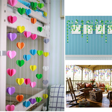 Baby Hanging Toy Heart Round Shape Hanging Paper GarSAnds For Home And Wedding Anniversary Decoration GarSAnds Flora String