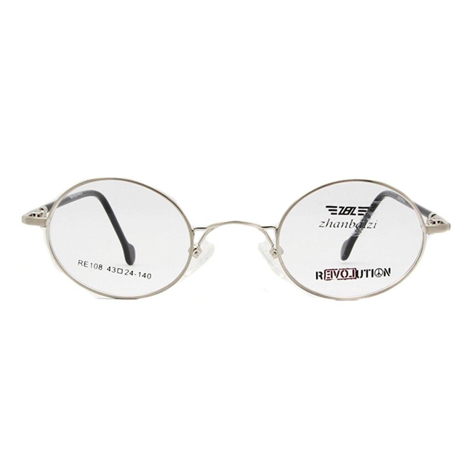 ZBZ Küçük Yuvarlak Metal Çerçeve Gözlük Erkek Kadın Miyopi - Elbise aksesuarları - Fotoğraf 2