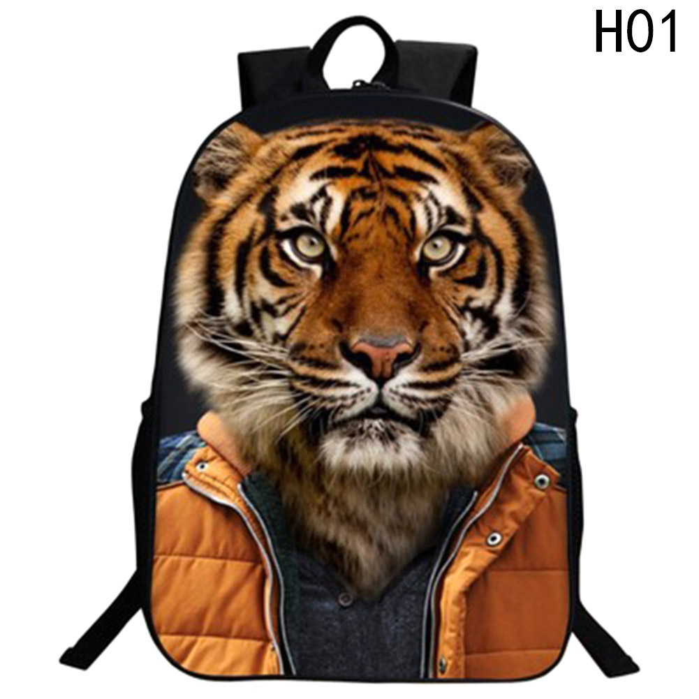 Schoolbags Kids Bookbag For Teenage Girls Children School Bags Backpack Mochila 3D Cartoon Animal Cute Cat Dog