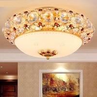 LED lampada da soffitto di cristallo di lusso soggiorno camera da letto romantica di lusso Europeo aristocraticwarm wedding ferro lampada D38/48/58 centimetri