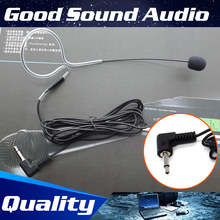 Free Shipping 3.5mm Plug Wired Condenser Headset Microphone Head Worn Single Earhook Mic Microfone For PC Laptop Computer Mike