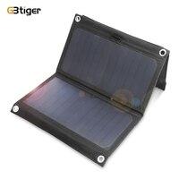 GBtiger 14 W 5 V solari Sunpower Pieghevole Pannello Solare Ricarica Dual USB Charger per iPhone, Smasung, Huawei, Xiaomi Telefoni Cellulari