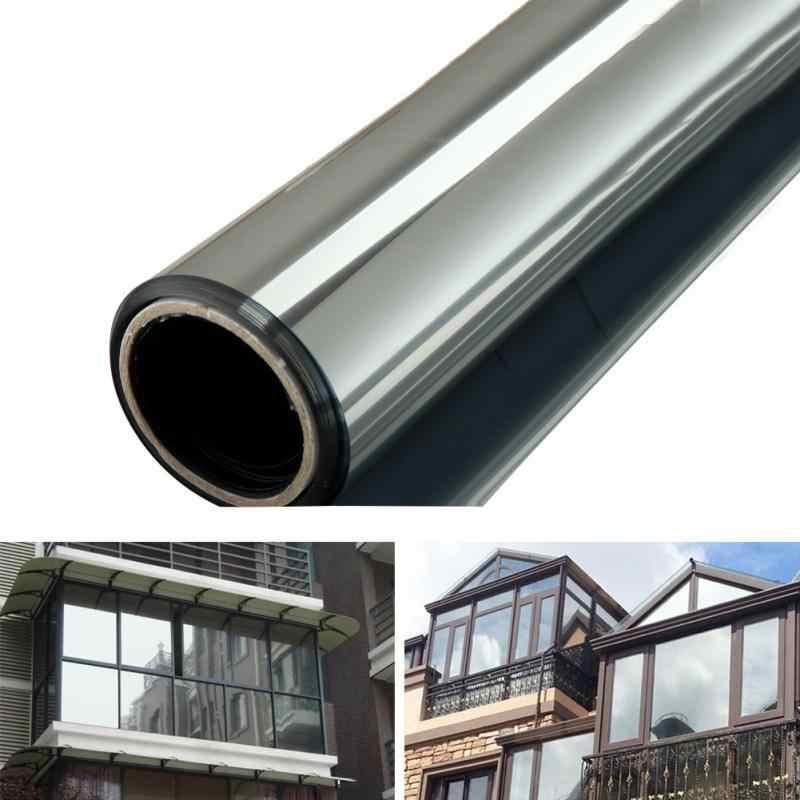 Window Foil Glass Film One Way Mirror Silver Insulation Sticker Solar Reflective
