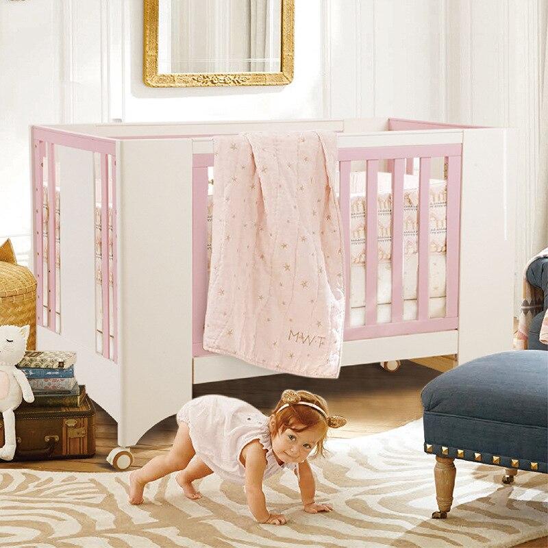 Детская кровать из массива дерева детская кровать многофункциональный детская Bb кровать новорожденных Колыбель