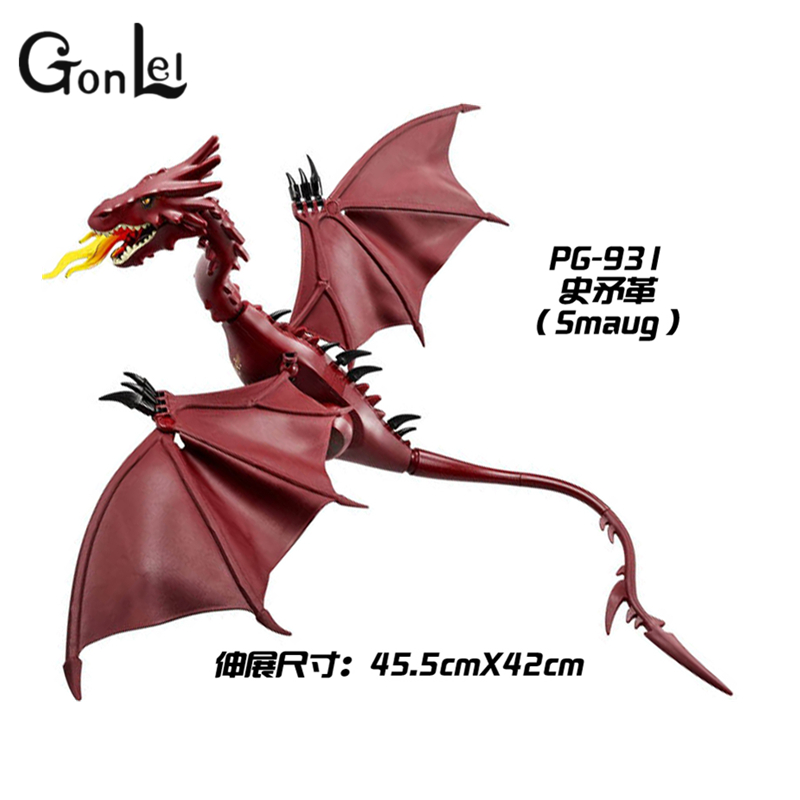 GonLeI PG931 The Hobbit Desolation of Smaug 79018 The Lonely Mountain Dol Guldor Battle Building Blocks Educationa with Lpin hobbit smaug king under the mountain dragon mini statue weta collectables