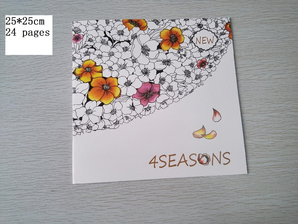 4 Seasons Colouring Sheets : Popular seasons coloring book buy cheap lots