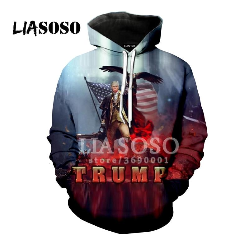 New Donald Trump USA President Funny Hoodie Sweatshirt Men Women 3D Print S-6XL