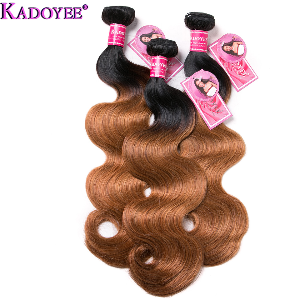 """Image 3 - Ombre Body Wave Human Hair Bundles With Closure 4pcs/lot Brazilian Hair Weave Bundles With Closure Remy Hair Extension 8"""" 26""""-in 3/4 Bundles with Closure from Hair Extensions & Wigs"""