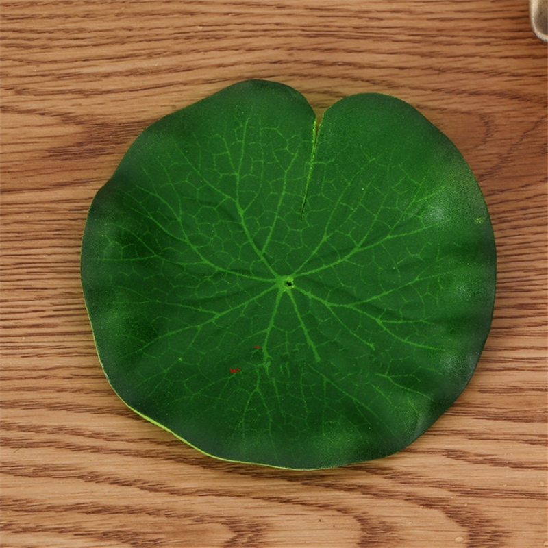 1pcs 10-60cm artificial PE foam lotus leaf water lily floating pool plant aquarium fish pond decoration home garden decoration