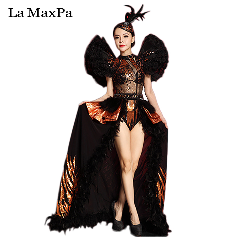 2016 New Arrival Female Singer Costume Sexy Bar Dj Ds Set Performances Clothes Women Stage Costume Singers Dance Outfit 028