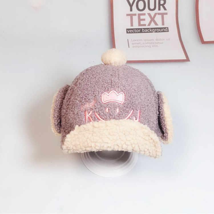 HPBBKD ใหม่แฟชั่นเด็กน่ารักเด็กหมวกเด็ก Winter Plus แคชเมียร์ผ้าฝ้ายหมวกเด็ก beanies เด็กหญิงหมวก GH668