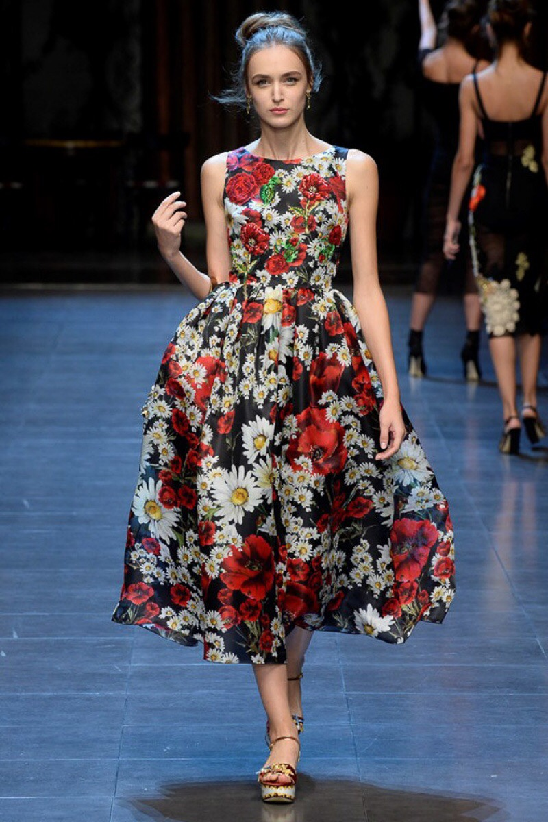 Women Summer Fashion Casual Retro Plus Size Flower Print Dress ...