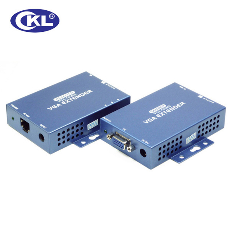 CKL VGA Video Audio Extender over Cat5e Up to 100M (328 Feet) VGA-100MS