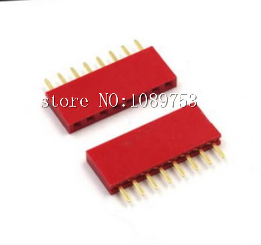 50Pcs Red 2.54mm 1* 8 8pin Dip Single Row Female Pin Header Connector For DIY poa lmp55 610 309 2706 original projector lamp with housing for sanyo plc xu48 plc xu50 plc xu51 plc xu55 xim lisa