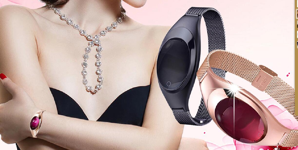 Girl Women Smart Watch Bracelet Heart Rate Monitor Fitness Tracker Facebook Message Remi ...