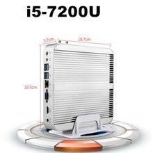 [Седьмого Поколения Intel Core i5 7200U] Новые Кабы Озеро Win10 Mini PC Макс 3.1 ГГц Безвентиляторный HTPC Intel Nuc Skylake HD Graphics 620 4 К TV Box