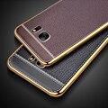 Litchi luxo silicone phone case para samsung galaxy j2 prime j5 j7 prime prime tampas do telefone de couro à prova de choque suave pu Fundas