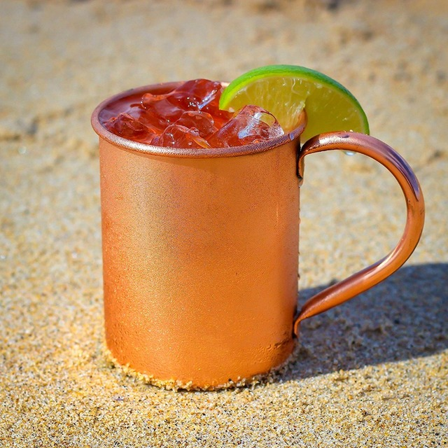 Smooth Copper Mug for Beer and Other Beverages