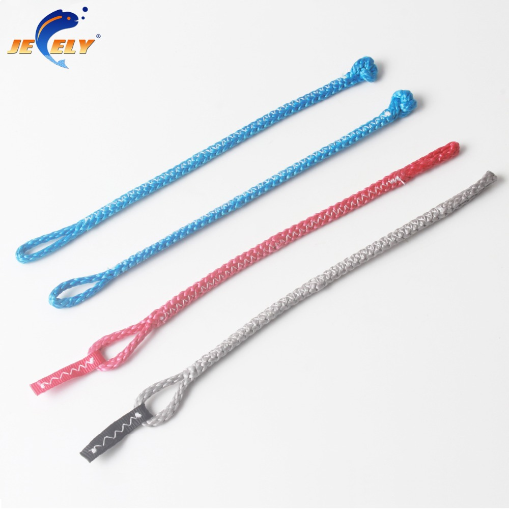 4PCS/SET Kitesurfing Kite 4 Line Pigtails 1 Red 1 Grey In 18CM,2 Blue In 19CM 1000KG  For Bar Repair