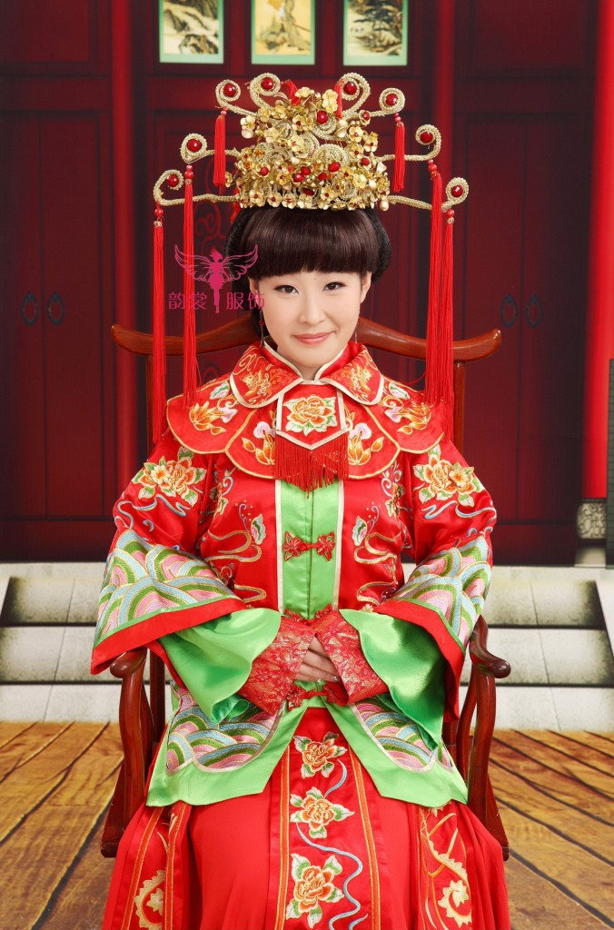цены Red Tassel  011 Gold Bride Wedding Hair Tiaras Ancient Chinese Empress Hair Piece