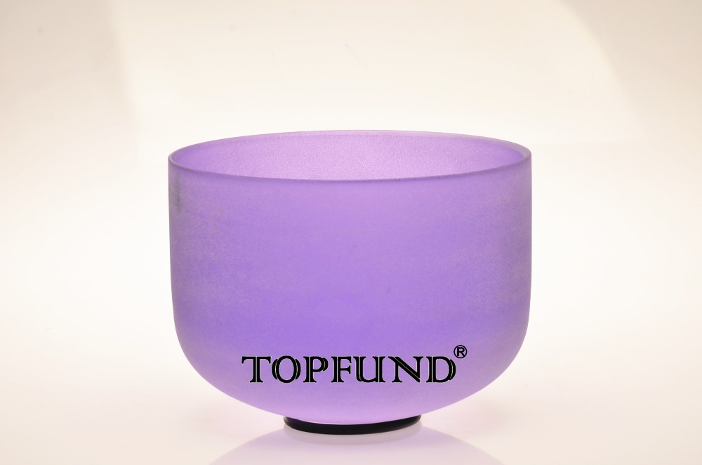 ФОТО Violet  Color A#  Note Pineal  Chakra  Frosted Quartz Crystal Singing Bowl 8