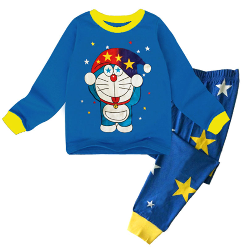 MAGGIE'S WALKER Children Clothing Set for Baby Boys Girls 2 Pcs Long-sleeved T Shirt+Pants Pajamas Sets Outfits Kids Costume