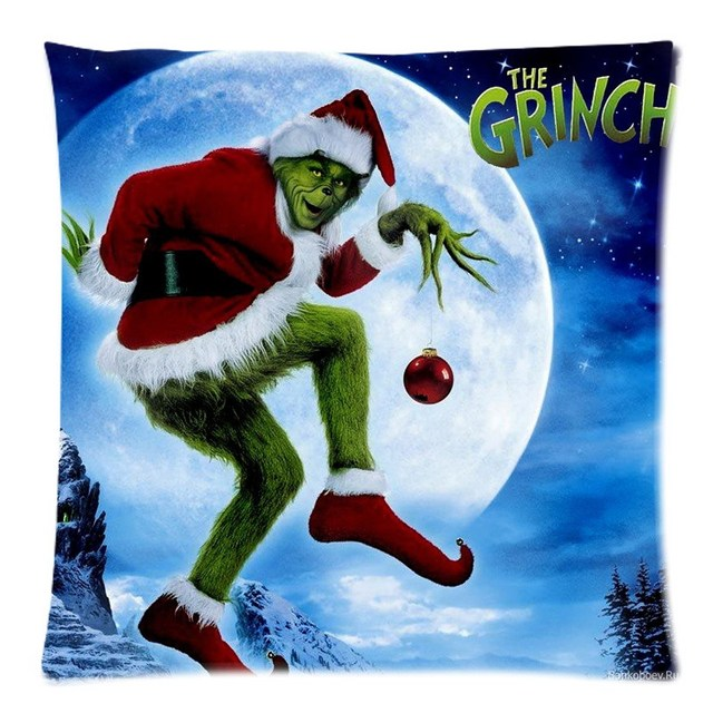 how the grinch stole christmas throw pillow cover decorative cotton linen pillow slip diy cushion case