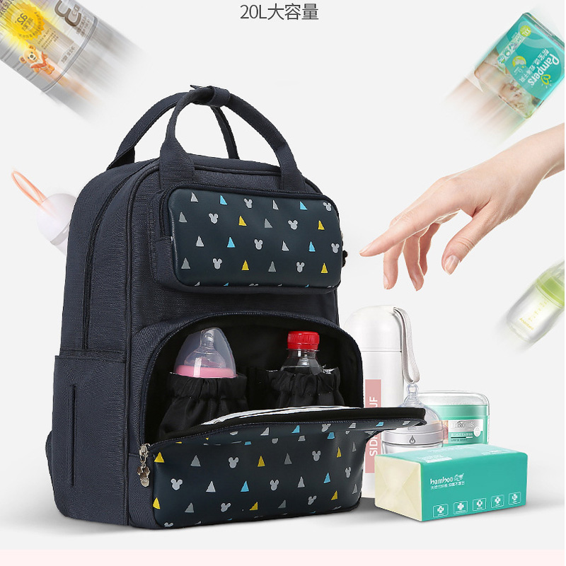 2019 NEW Mummy Maternity Nappy Bag Large Capacity Baby Mickey Mouse Diaper Bag Travel Backpack Nursing