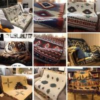 Cotton Blend assels Rug Sofa Blanket Living Room Bedroom Soft Carpet Bedspread Tablecloth Tapestry Home Decor