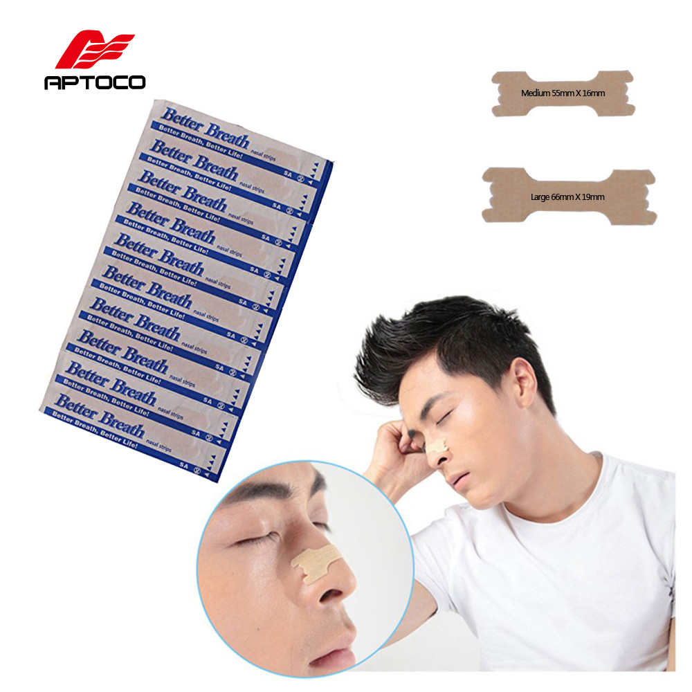 Aptoco 100 PCS/LOT Anti snoring Nasal Strips are Better than Breath Right Way To Stop Snoring Anti Snoring Strips klasvsa 100 pcs pack nasal strips small medium better breathe anti snoring sleeping reduce snoring aid device health sleep