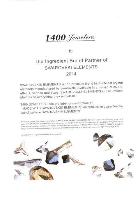 2014 Swarovski Elements certificate