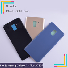 10Pcs/lot For Samsung Galaxy A8+ Plus 2018 A730 SM-A730F A730DS A730F Housing Battery Cover Back Cover Case Rear Door Chassis телефон samsung sm a730 galaxy a8 2018 32gb черный