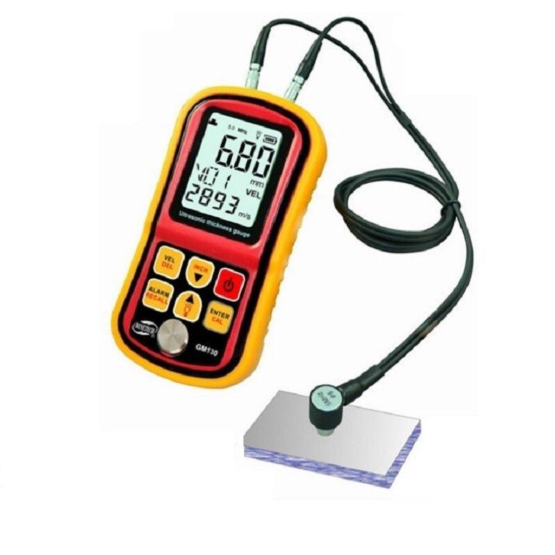 GM130 Ultrasound Thickness Gauge Metal Digital Thickness Gauge GM130 Steel Plate Electronic Thickness Gauge 0.01mm