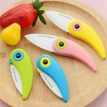 2016 Newst Mini Bird Ceramic Knife Gift Knife Pocket Ceramic Folding Knives Kitchen Fruit Paring Knife With Colourful ABS Handle